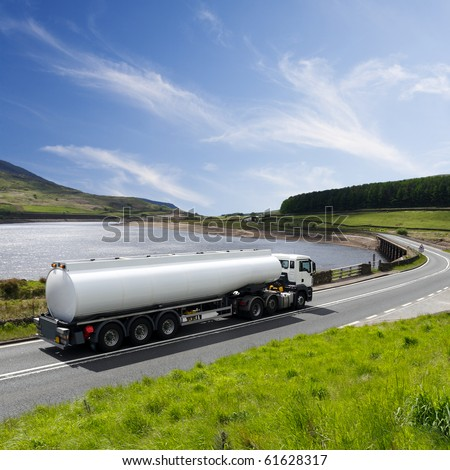 A Big Fuel Tanker Truck