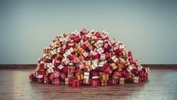 A Big pile of Christmas Presents