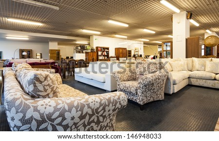 A Big Shop With Various Pieces Of Furniture