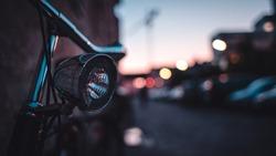 A bike in the city of munich.
