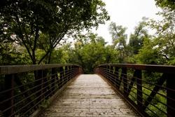 A bike trail in Oshawa, Ontario, Canada