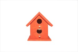 a bird house in isolation with a clipping path