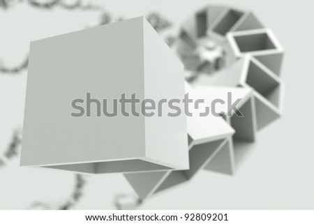 a black and white cubes abstract background