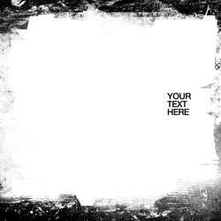 A black and white grunge frame