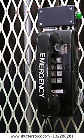A black emergency phone found in the bunker of a missile silo