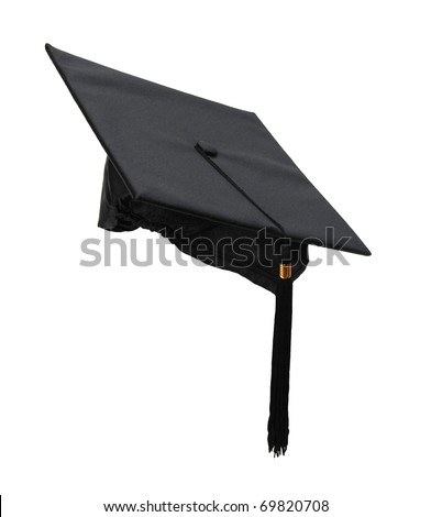 a black graduation cap