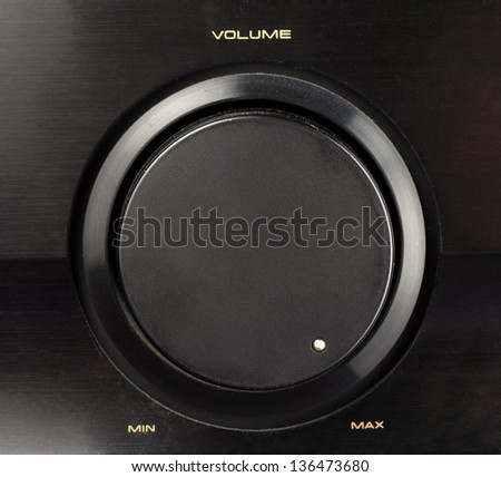 A black knob of volume turned to max