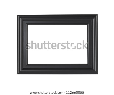 A black picture frame, isolated with clipping path.