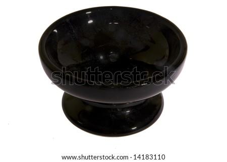 Black Fluted Floor Vase with Japanese Fantail | Overstock.com