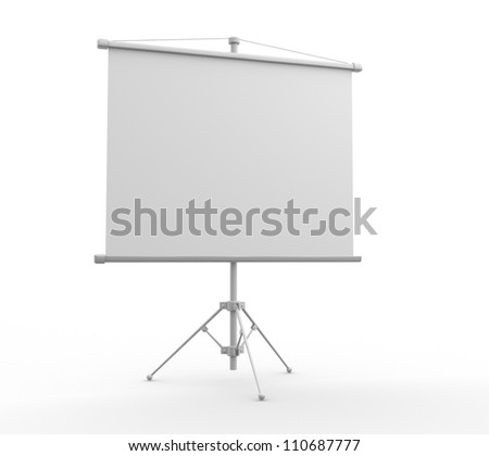 A blank board over white.