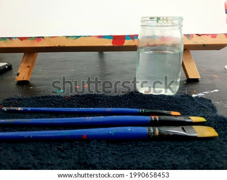 A blank canvas ready to be painted Stock photo ©