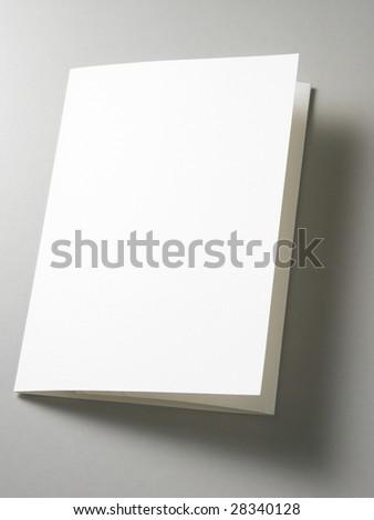 a blank card  on the plain background