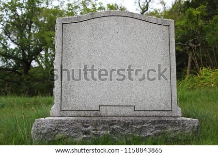 A Blank Gravestone  ストックフォト ©