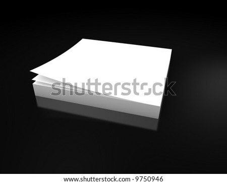 A blank notepad background