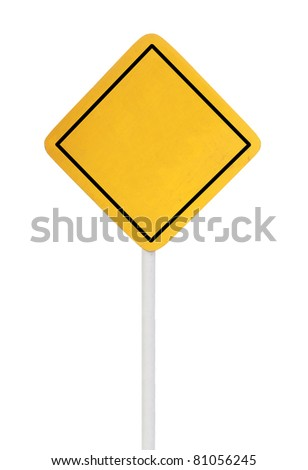 A blank road sign isolated on white background. ready for your design