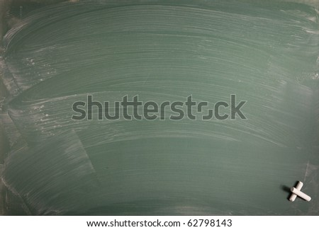 A blank school chalkboard. With copy space for your text or desing