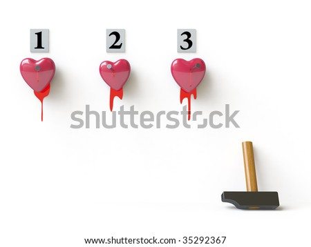 A Bloody Heart Symbolizes Unhappy Love. In My Portfolio There Is ...