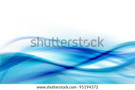 Stock Photo A blue abstract wave background