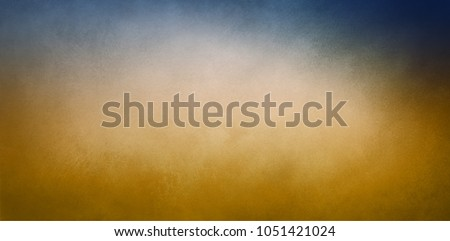 A blue and gold background with a gradient color blend of yellow to a deep navy border in an elegant classy website banner or header design that has faint vintage texture.