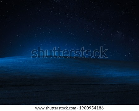 A blue desert night sky with stars Foto stock ©