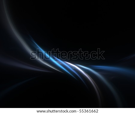 A blue fractal backdrop with abstract glowing lines of plasma.