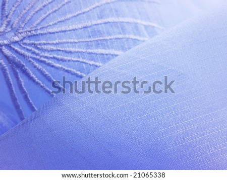 A blue leaf embroidery silk background