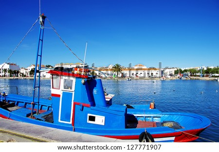 A boat���´s detail on the river of Tavira