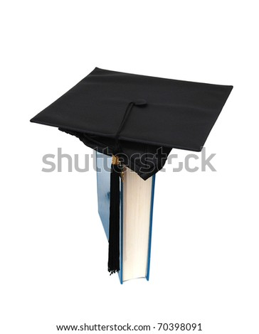 A book and cap in conception