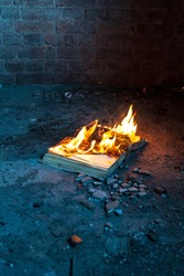a book on fire is a burning book