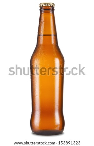Shutterstock A bottle of beer isolated over a white background.