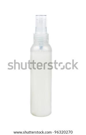 A bottle of shampoo. Photos isolated on white background - stock photo