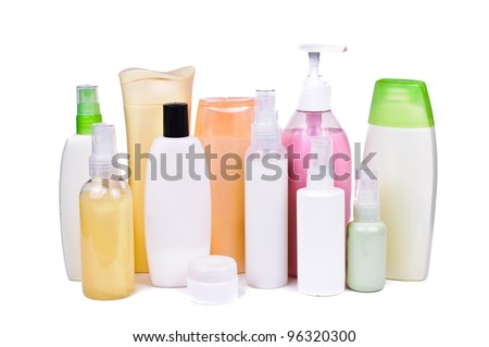 A bottle of shampoo. Photos isolated on white background