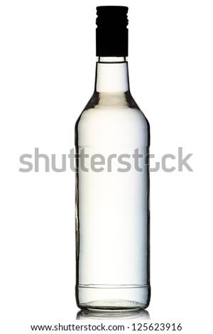A bottle of vodka isolated on white background. #125623916