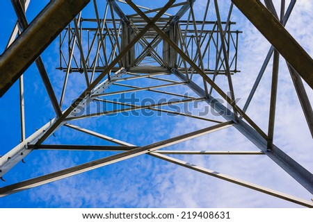 a bottom view of the power line
