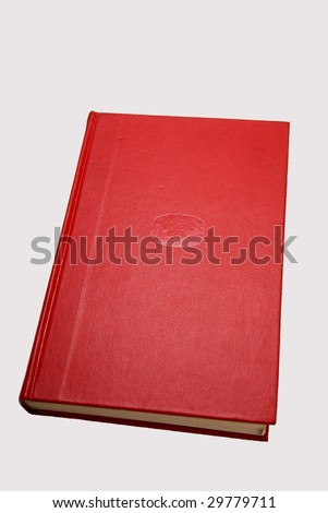 A bound red book - isolated - stock photo