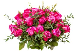 A bouquet of red roses. isolate on white background