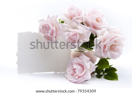 A bouquet of roses for a romantic greeting cards