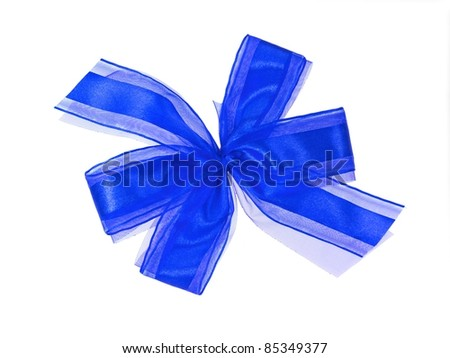 A bow isolated against a white background