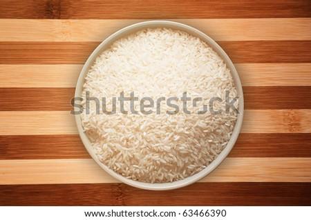 A bowl full of white rice