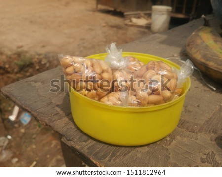 A bowl groundnut on a table