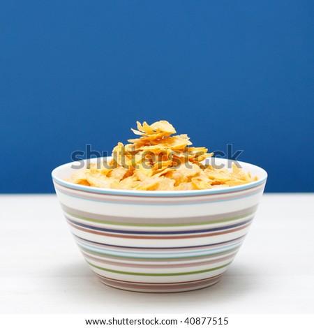 A bowl of corn flakes #40877515