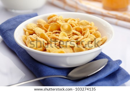 A bowl of cornflakes #103274135