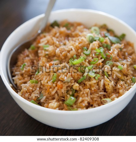 A bowl of delicious oriental fried rice