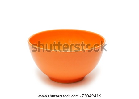 A bowl of orange on a white background.