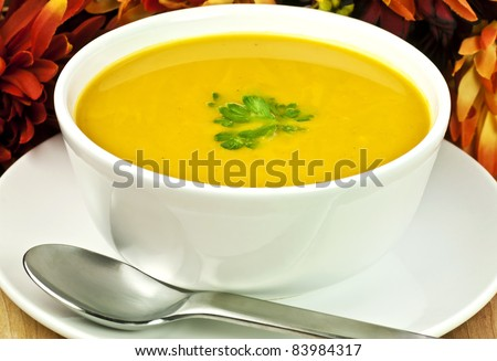 a bowl of squash soup for a fall meal
