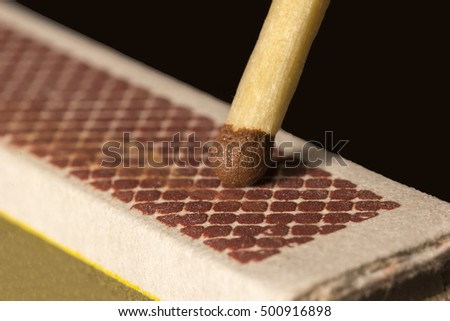 a box of matches ready to strike.Close up #500916898