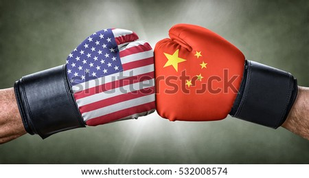 A boxing match between the USA and China