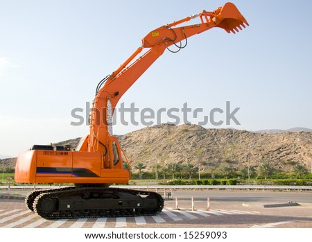 A brand new earthmover parked