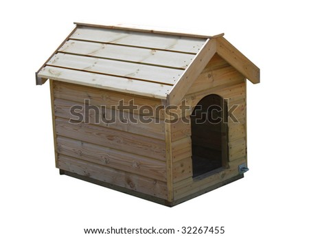 A Brand New Outdoors Wooden Dog Kennel.