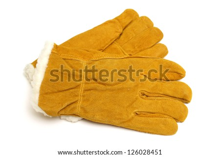 A brand new pair of insulated winter work gloves to protect any carpenters hands.